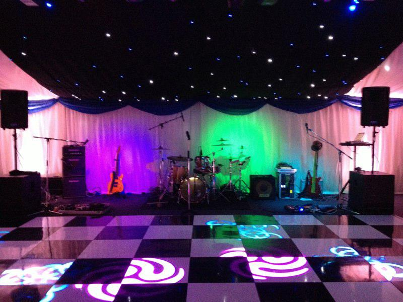 Live Band On Stage At Wedding